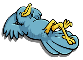 Lounging Bird for Bird Lounge by meihua