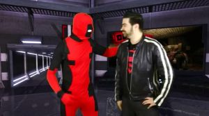 Deadpool and Angry Joe by NewSuperAvenger