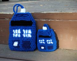 Tardis Dice Bag by patterns4paws