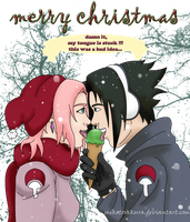 Request - Sasusaku Christmas by MikotoSakura