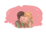 hiccup and astrid by hiraco