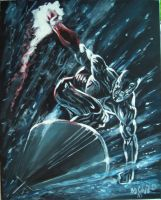 Silver Surfer hand painted by cliford417