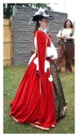 CountessLenore's red noble by HistoricCostume