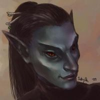 Sebyth Dunmer mini portrait by Sebyth