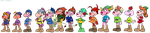 The Star Kids as the Seven Dwarfs by LadySomnambule