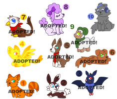 Little Adoptable Animals (Only 2 Points Each) by IvaIvanic