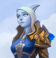 2016-11-10  Draenei Paladin Commission by lowly-owly