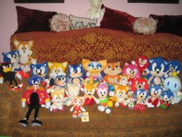 Sonic Plush Collection 2007 by sonicrules100