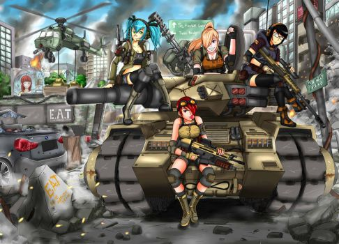 Girls and tank by RendyPayback