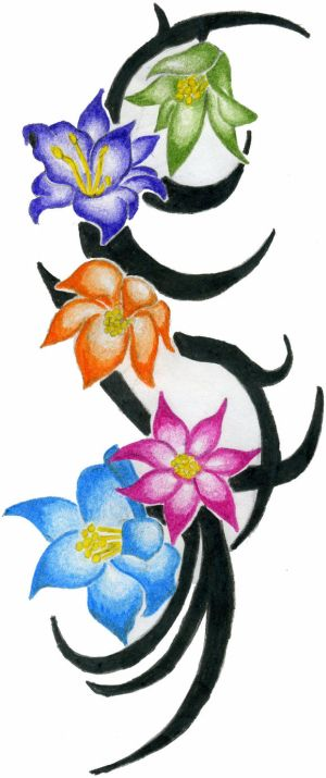 flower tattoo design by DirtyD41 on deviantart cool tattoo for back body tattoo, arm tattoo, hand tattoo, foot tattoo or side body tattoo