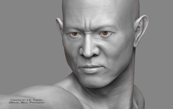 Shaolin 2016 Head Closeup by EtherealProject