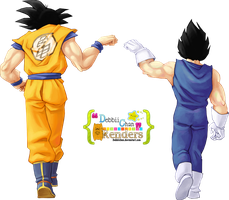 Goku and Vegeta Render ~ by debbiichan