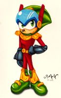 Zonic The Zone Cop by RAWN89