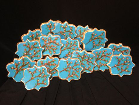 Cherry Blossoms Cookies by RamageArt