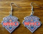 Doctor Who Earrings by sarahbombeara