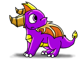 Chibi Spyro by spammy276