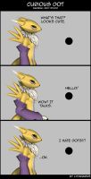 Renamon and the curious Dot by lycanarius