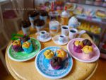 Muffins and coffee at Littlest Sweet Shop by LittlestSweetShop