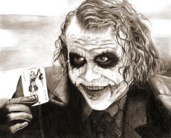 Heath Ledger as The Joker by deep-dark-eyes