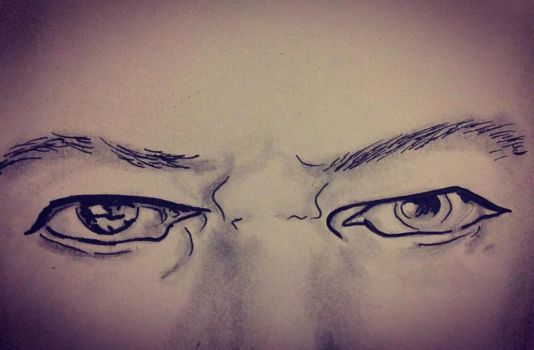 David Bowie eyes  by norler