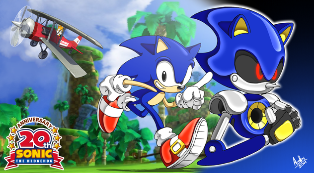 Sonic Generations Anniversary by andystudio29