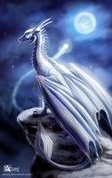 White dragoness by Azany