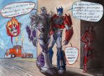 Pairing - Megatron and Optimus by MaryDec