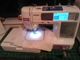 First use Embroidery Machine. by Jillah92