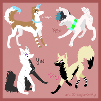 VERY LATE spam trade gifties by seaglasshusky
