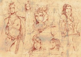 Valkyrie Sketches II by DarkJimbo