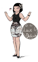 new girl Oc : Lace Delicate by GingerQuin