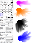 Paint Tool Sai: Smudge Tool by Calamitykitten