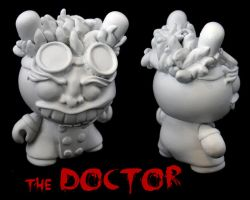 Dunny Monster : DIY The Doctor by zombiemonkie