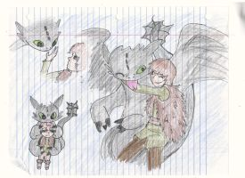 Toothless and Hiccup III by strangmusicobsession