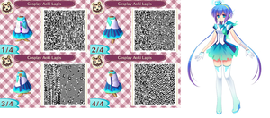 QR ACNL : Aoki Lapis by AngelThea
