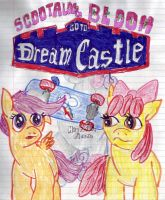 Scoolaloo and AppleBloom Go To Dream Castle by scurilevensteinother