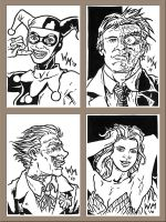 Sketchcards: Batman Villains by quibly