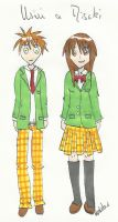 Misaki and Usui by elodieland