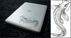Macbook Koi Printing by Jayen25