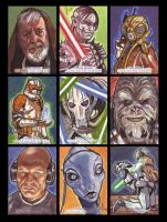 Star Wars Galactic Files Sketch Cards from Topps 7 by LeeLightfoot