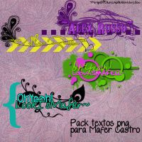 Pack textos PNG Pedido Mafer Castro by ThingsOfDestiny