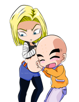 Commission: A-18 and Krillin by LowRankRaccoon969