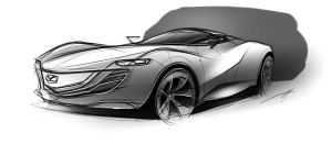 Quick Mazda Sketch by Vincent-Montreuil