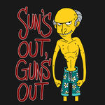 Sun's Out, Gun's Out tshirt design by tombancroft