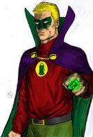Green Lantern Alan Scott color by craigcermak