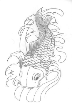 Koi Sketch by JonnyANDfrankie