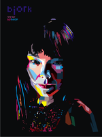 Bjork in Pop Art by ndop