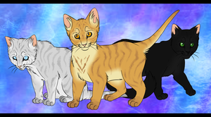 Jay, Lion and Holly - Warrior Cats - Fan Art by WavesOfWealth