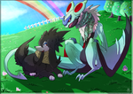 Shiny Noivern Furfrou Commission by RenePolumorfous