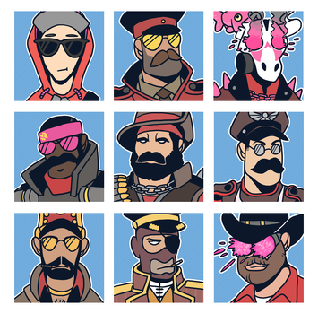 TF2 Loadouts (RED) by KingTheory